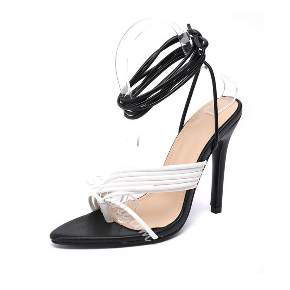 Shoespie Sexy Lace-Up Thong Lace-Up Sandals