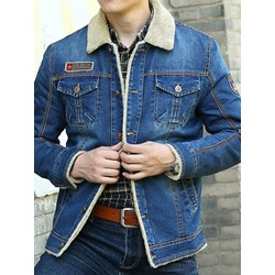 Lapel Letter Thick Loose Winter Jacket