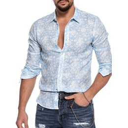 Print OL Floral Loose Single-Breasted Shirt