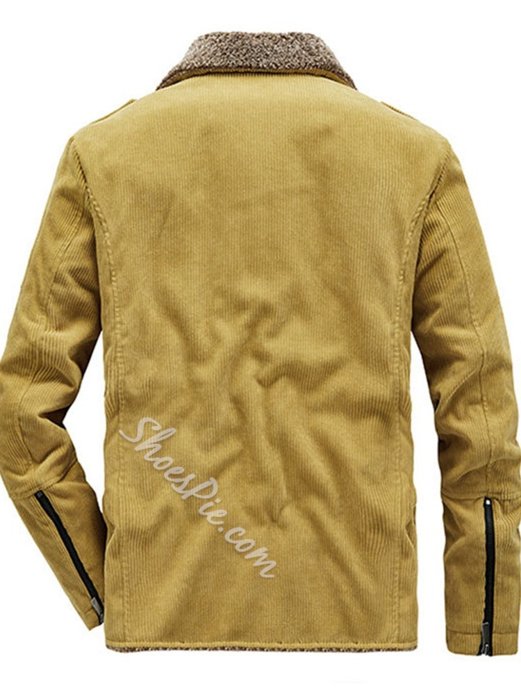 Standard Zipper Plain Casual Zipper Down Jacket