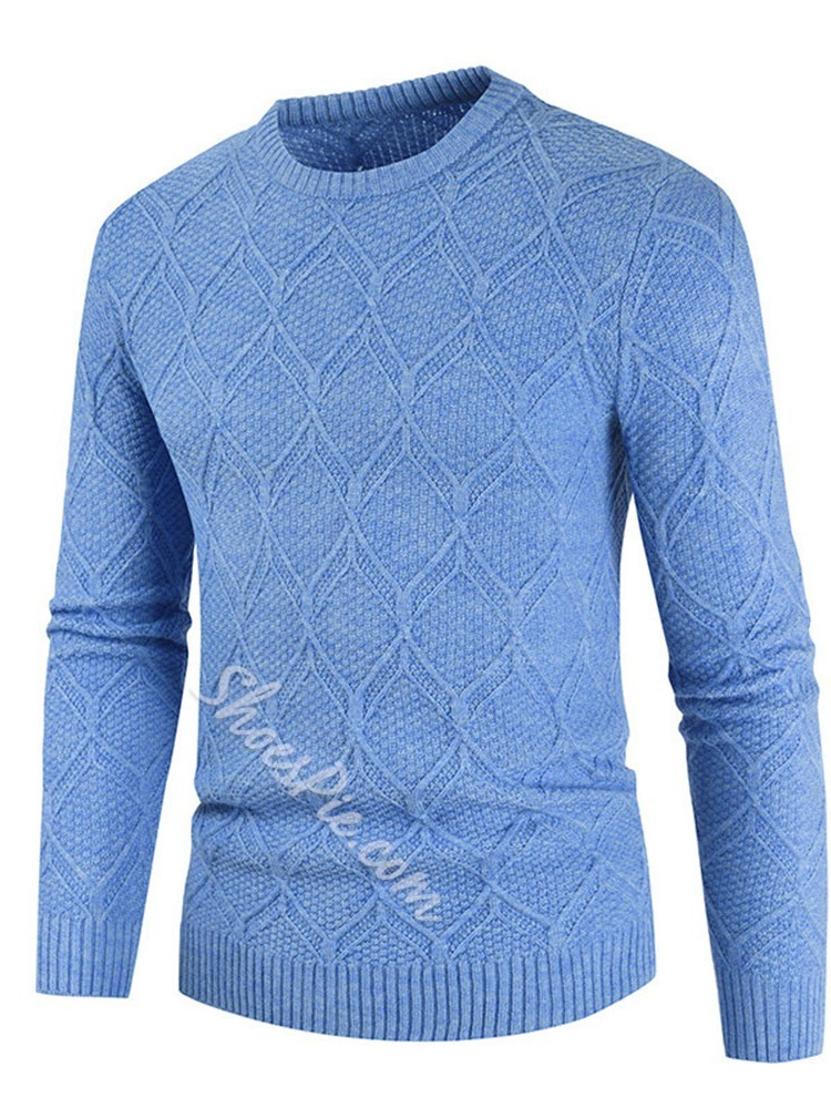 Plain Round Neck Standard Casual Spring Sweater