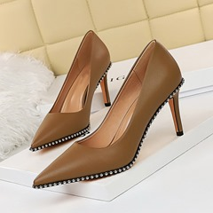 Shoespie Trendy Pointed Toe Stiletto Heel Slip-On Western Thin Shoes