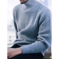 Plain Standard Turtleneck England Loose Sweater