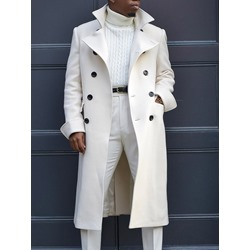 Plain Long Lapel Fall Casual Coat