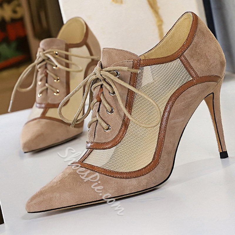 Shoespie Trendy Stiletto Heel Pointed Toe Hollow Western Thin Shoes
