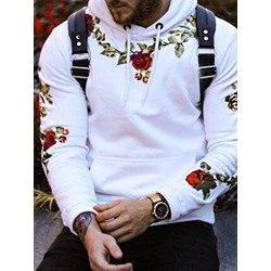 Floral Pullover Hooded Spring Hoodies