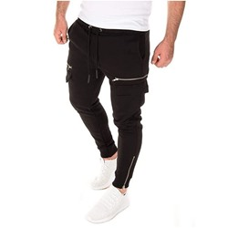 Pocket Plain Pencil Pants Spring Sports Casual Pants