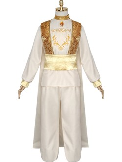 Floral Embroidery Long Sleeve Cotton Men's Costumes