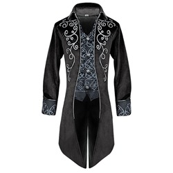 Color Block Patchwork Long Sleeve Men's Costumes