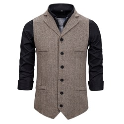 Plain England Single-Breasted Waistcoat