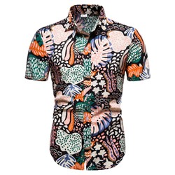 Print Floral Lapel Single-Breasted Summer Shirt