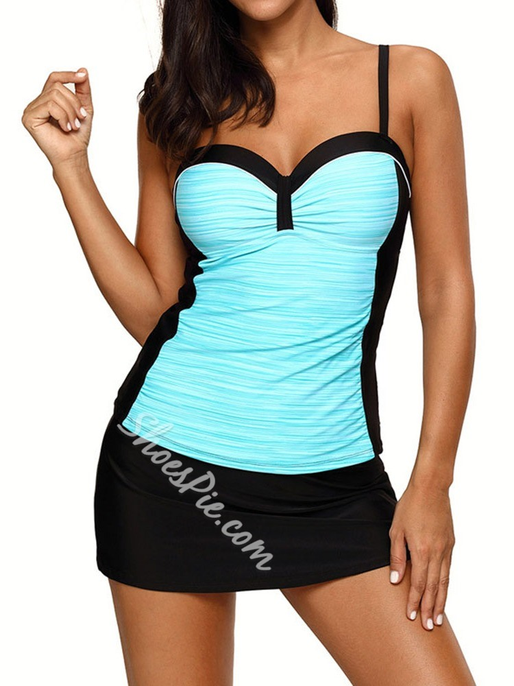 Tankini Set Color Block Women's Swimwear