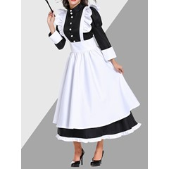 Western Bowknot Color Block Classic Halloween Women's Costumes
