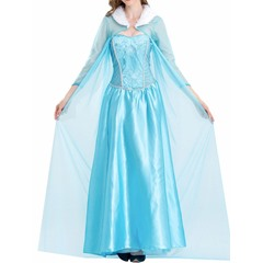 Nine Points Sleeve Sweet Mesh Polyester Women's Costumes