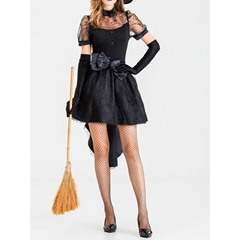Short Sleeve Western See-Through Polyester Women's Costumes