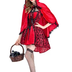 Print Color Block Vintage Classic Halloween Women's Costumes