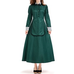 Long Sleeve Western Plain Fall Women's Costumes