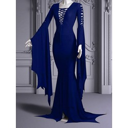 Long Sleeve Hollow Floor-Length Mermaid Women's Dress