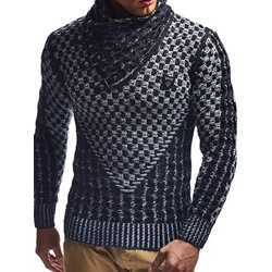 Patchwork Standard Turtleneck European Winter Sweater