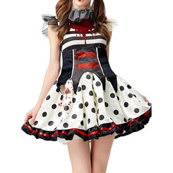 Print Sleeveless Color Block Polyester Women's Costumes