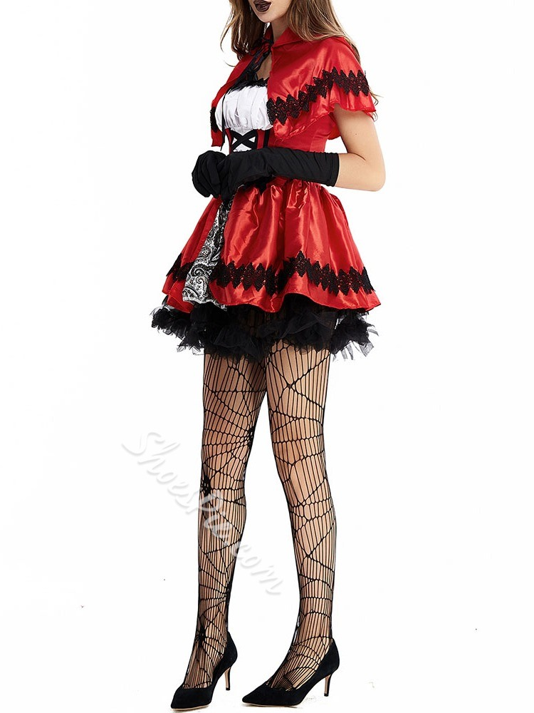 Sweet Patchwork Color Block All-Season Women's Costumes
