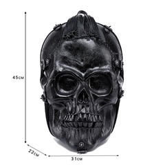 Shoespie PU Embossing Skull Backpacks
