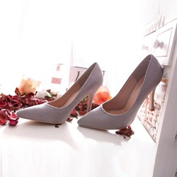 Shoespie Stylish Pointed Toe Slip-On Stiletto Heel 9cm Thin Shoes