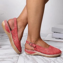Shoespie Trendy Slingback Strap Flat With Round Toe Hollow Sandals