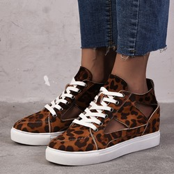 Shoespie Stylish Round Toe Thread Low-Cut Upper Flat With Sneakers