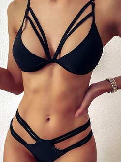 Bikini Set Black Women's Swimwear