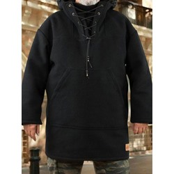 Pullover Thick Plain Winter Hooded Hoodies