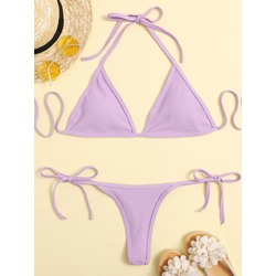 Plain Sexy Bikini Set Women's Swimwear