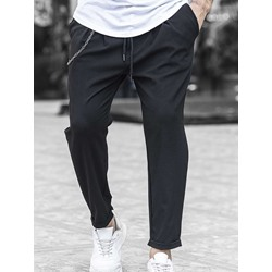 Straight Plain Four Seasons Casual Casual Pants