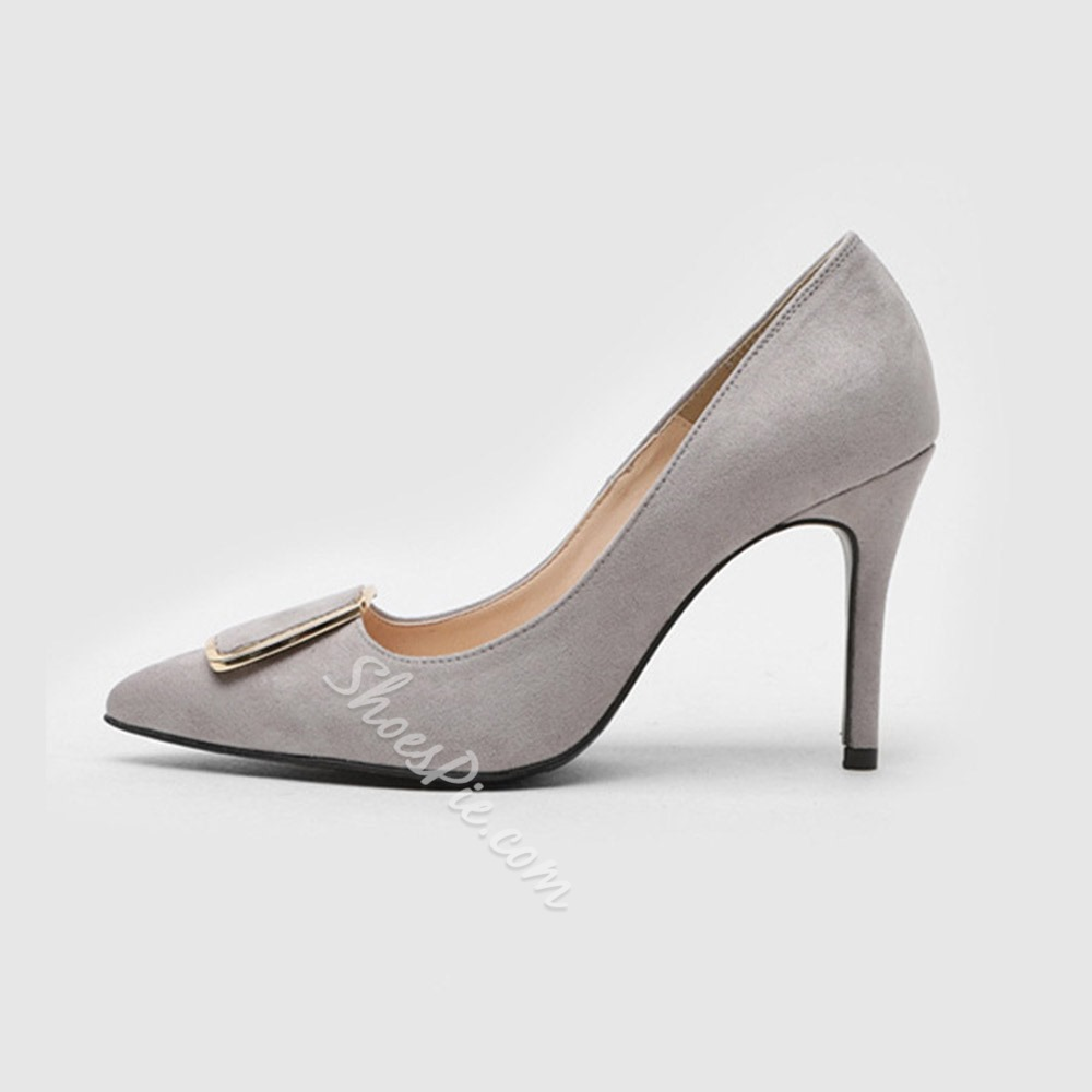 Shoespie Stylish 3D Stiletto Heel Pointed Toe Plain Thin Shoes