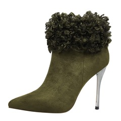 Shoespie Stylish Pointed Toe Plain Stiletto Heel Professional Boots