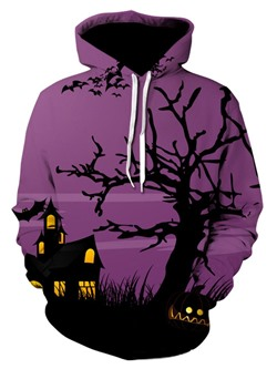 Pullover Thin Print Pullover Loose Hoodies