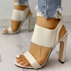 Shoespie Stylish Open Toe Chunky Heel Buckle Sexy Sandals