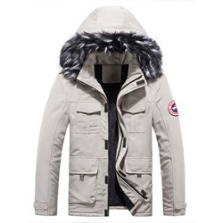 Standard Appliques European Zipper Down Jacket