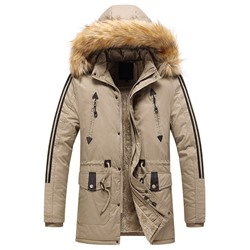 Color Block Standard Stand Collar Zipper Down Jacket