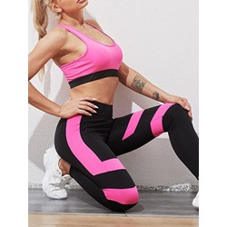 Color Block Sport Two Piece Set