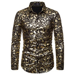 European Print Floral Spring Single-Breasted Shirt