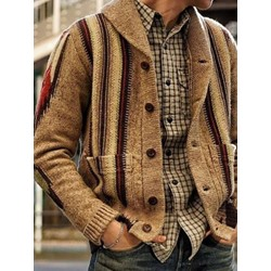 Standard Lapel Pocket Slim Winter Sweater