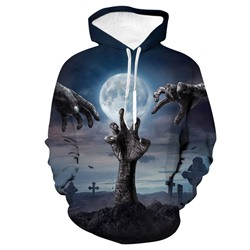 Print Pullover Casual Pullover Hoodies