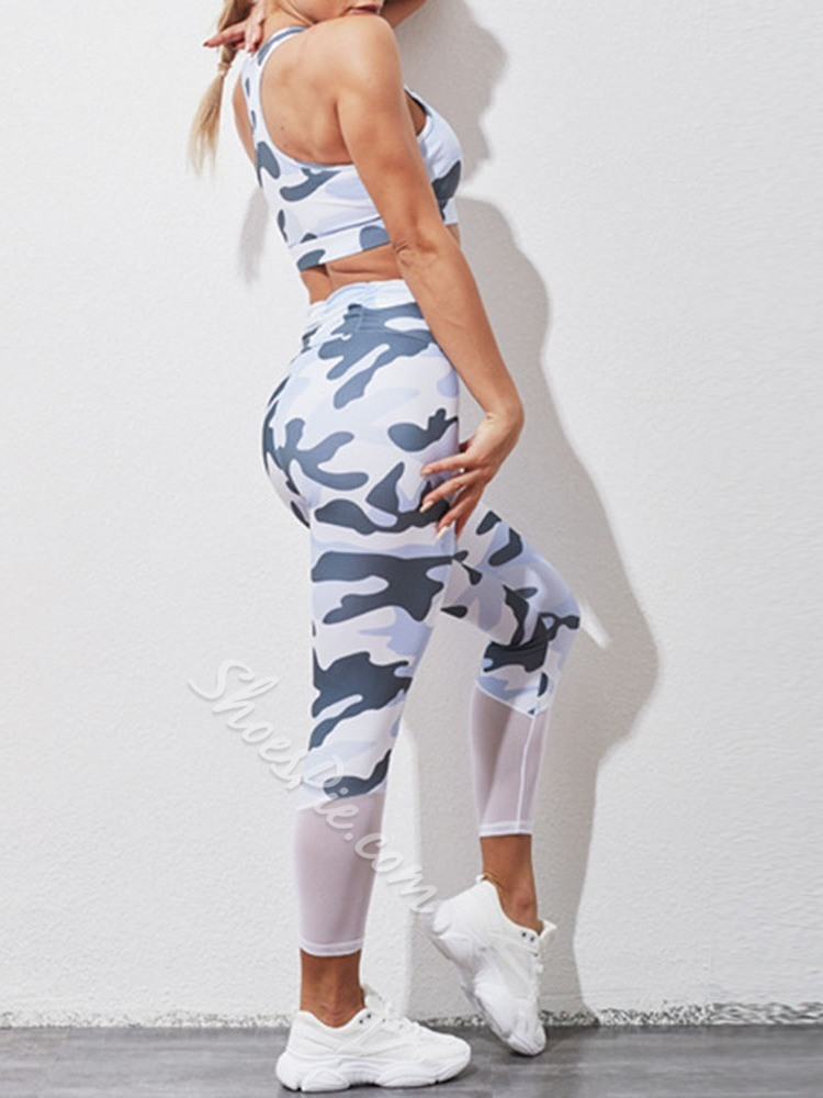 Camouflage Sport Two Piece Set