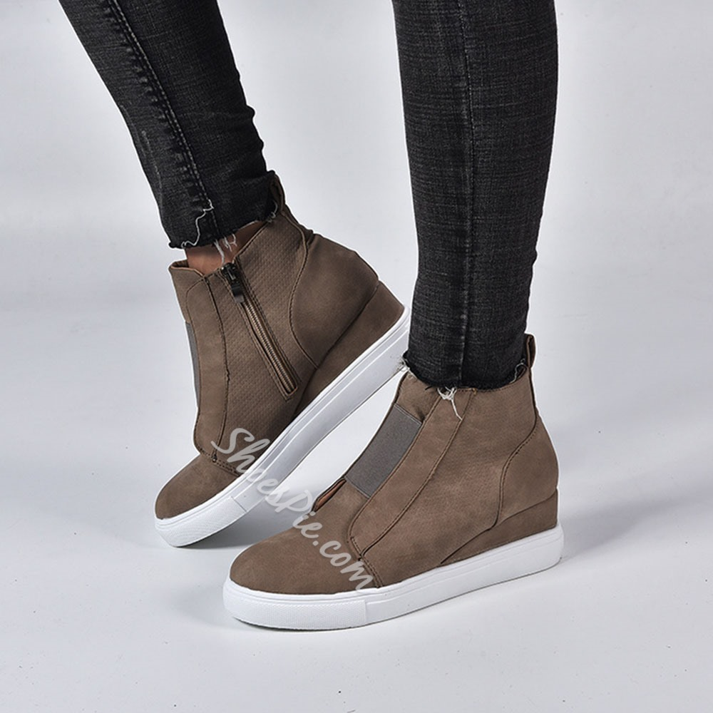 Shoespie Sexy Thread Zipper Round Toe Western Thin Shoes