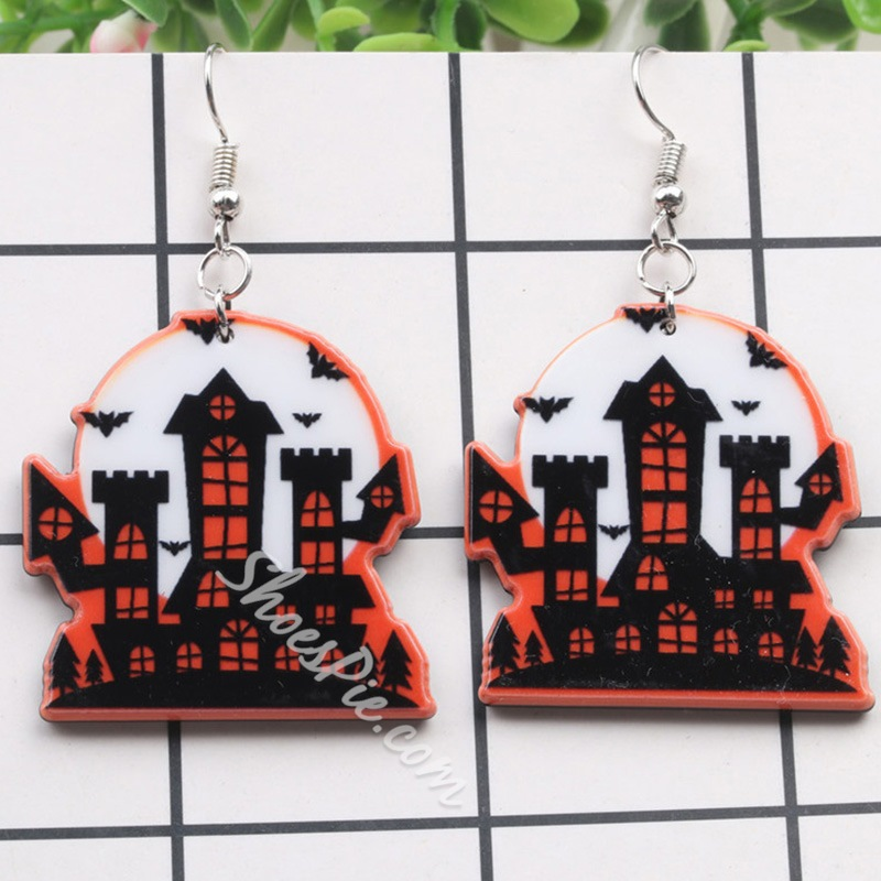 Architecture Acrylic European Prom Earrings
