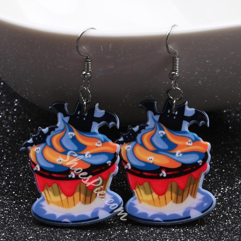 Halloween Acrylic European Holiday Earrings