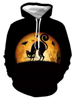 Print Pullover Animal Fall Pullover Hoodies