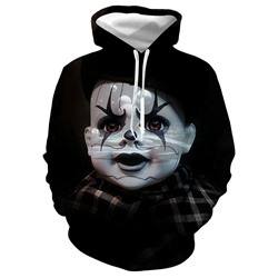 Print Pullover Fall Casual Hoodies