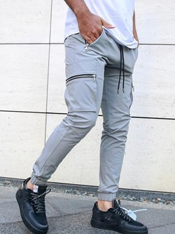Pocket Plain Sports Spring Casual Pants